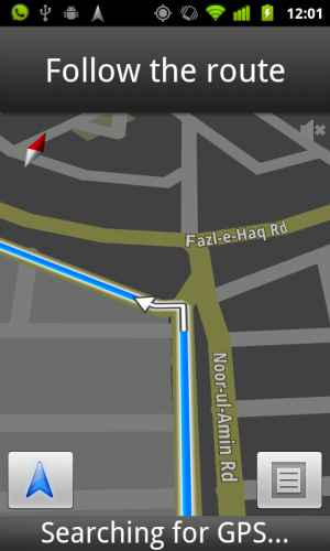 Navigation by Google Maps - Android App