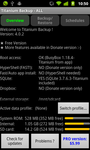 Titanium Backup - Android app