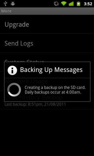 WhatsApp Backup Chat Conversations