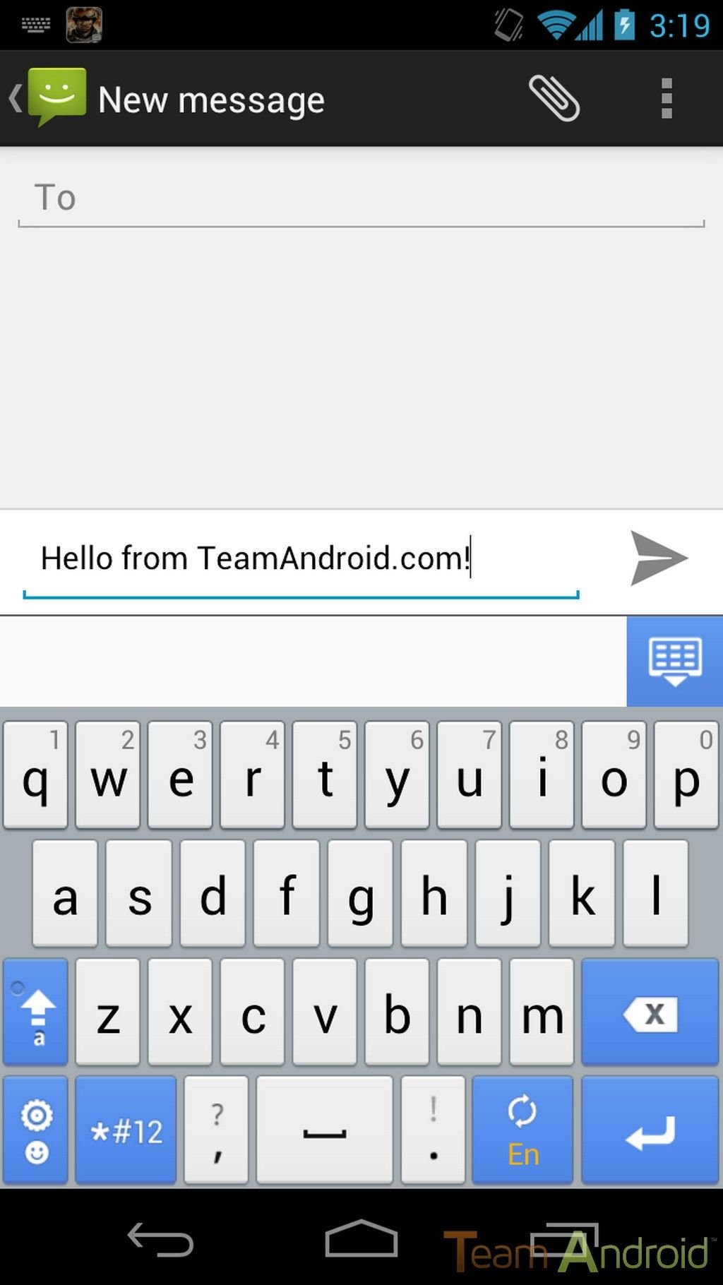 go keyboard for android phone