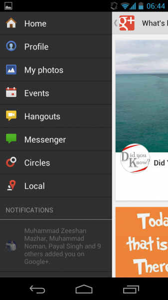Google+ 3.0 on Android