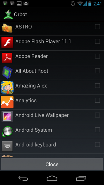 Orbot: Tor on Android