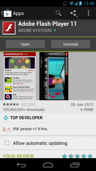 Install Flash Player 11.1 on Samsung Galaxy S5 with Android 4.4.2 ...
