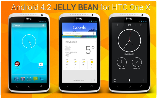 Update HTC One X to Android 4.2.2 AOSP Jelly Bean Custom ...