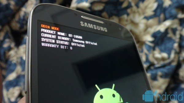 Samsung Galaxy S4 Download Mode Odin Mode How To