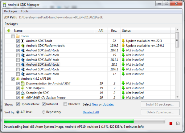 android sdk manager for windows 7 free