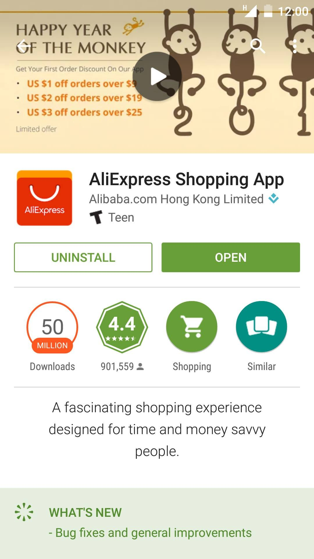 Do online shopping via AliExpress mobile app for Android Aliexpress
