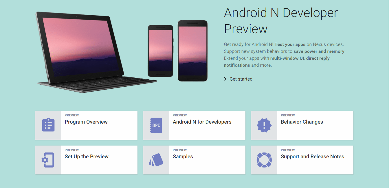 Download Android N NPD35K Developer Preview Beta