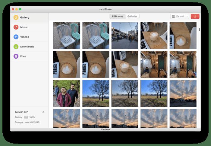 HandShaker Mac Android Files