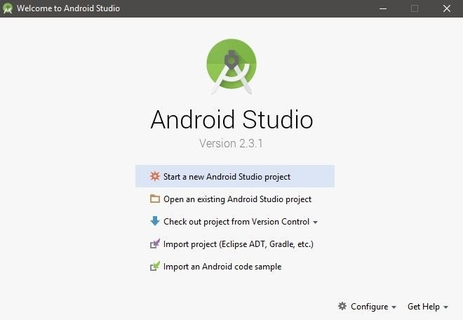 Install Android Studio 2.3