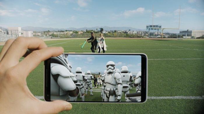 AR Stickers on Galaxy S9