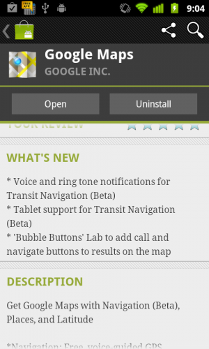 Google Maps 5.9 - Android App