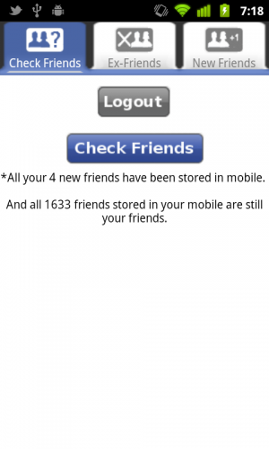 Facebook Friends Checker - Android App