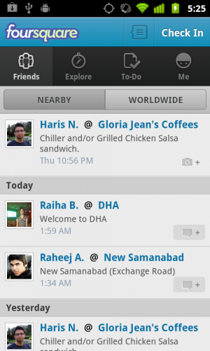 Foursquare Android App
