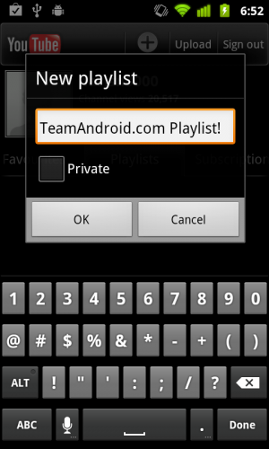 YouTube for Android app