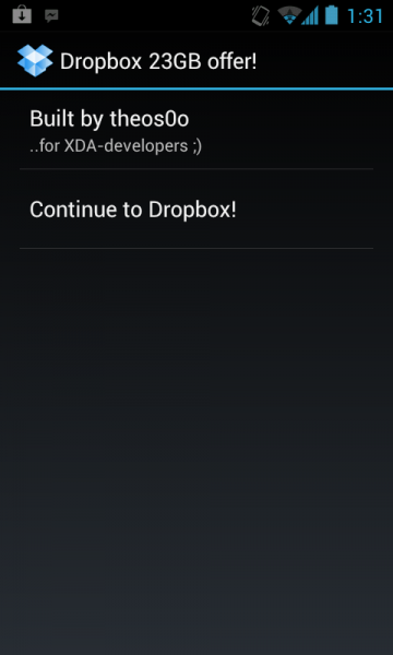 Dropbox 23GB Free Space - Android APK Download
