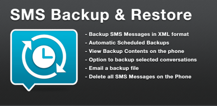 Backup SMS Messages and Restore