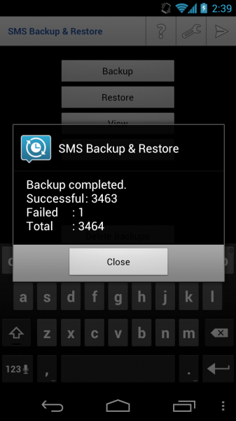 Backup SMS and Restore on Android - Download Free App 13