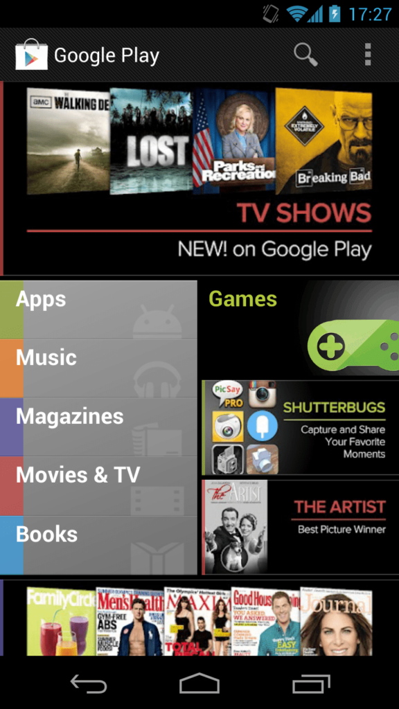 Google Play Store in 2012