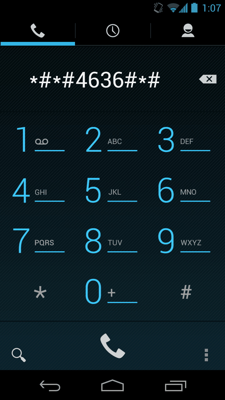 Android Secret Dial Codes - List of 32 Android Codes