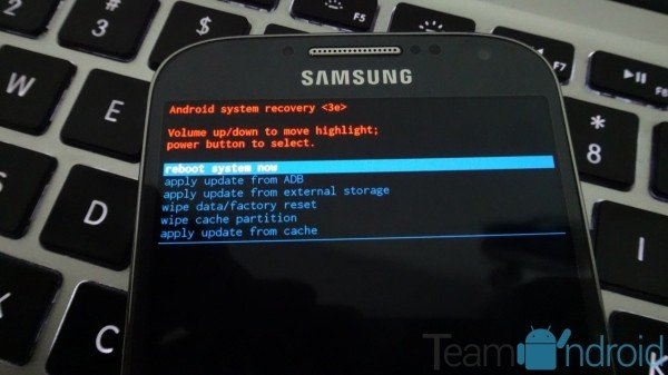 Samsung Galaxy S4 Recovery Mode