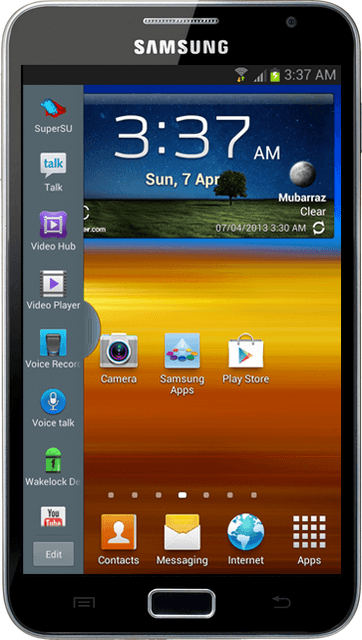 Glory ROM for Samsung Galaxy Note 1 (N7000) - Android 4 1 2