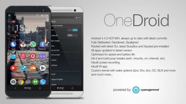 Update HTC One to Android 4 4 2 OneDroid KitKat Custom ROM [How To