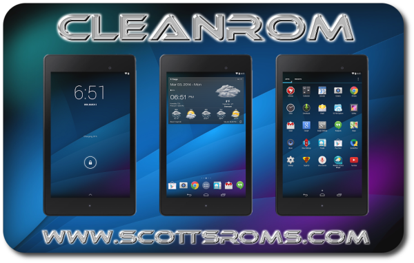 Install CleanROM Android 4 4 4 on Nexus 7 2013 KitKat Custom ROM