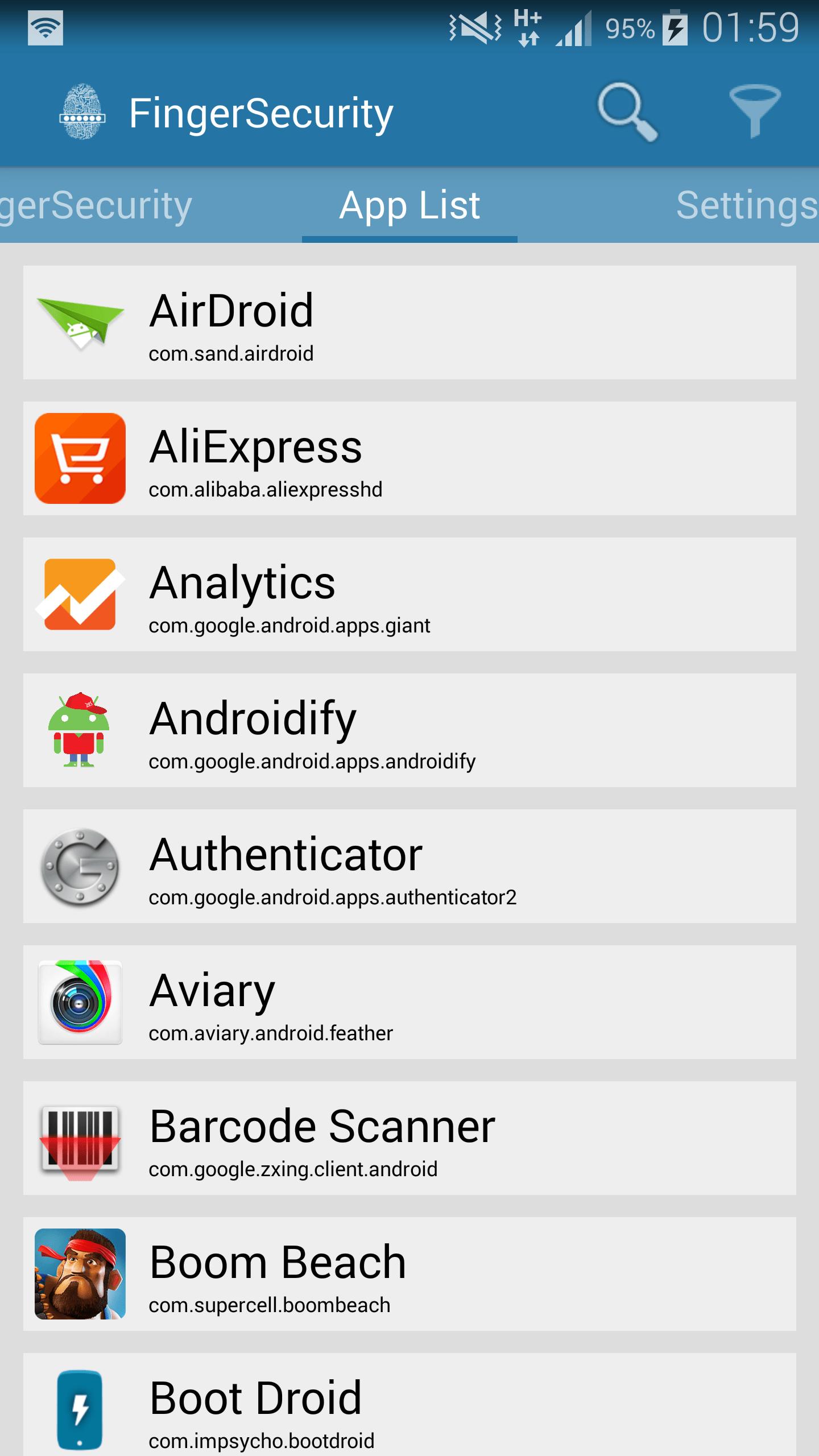Lock Apps Using Fingerprint Scanner with FingerSecurity