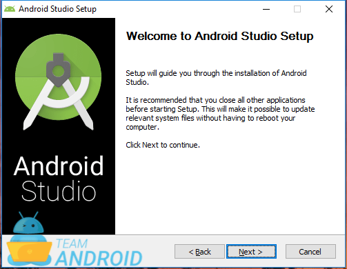 Install Android Studio - Setup Wizard 1