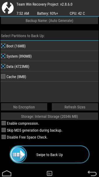 How to Backup Android ROM with TWRP Recovery - Tutorial / Guide