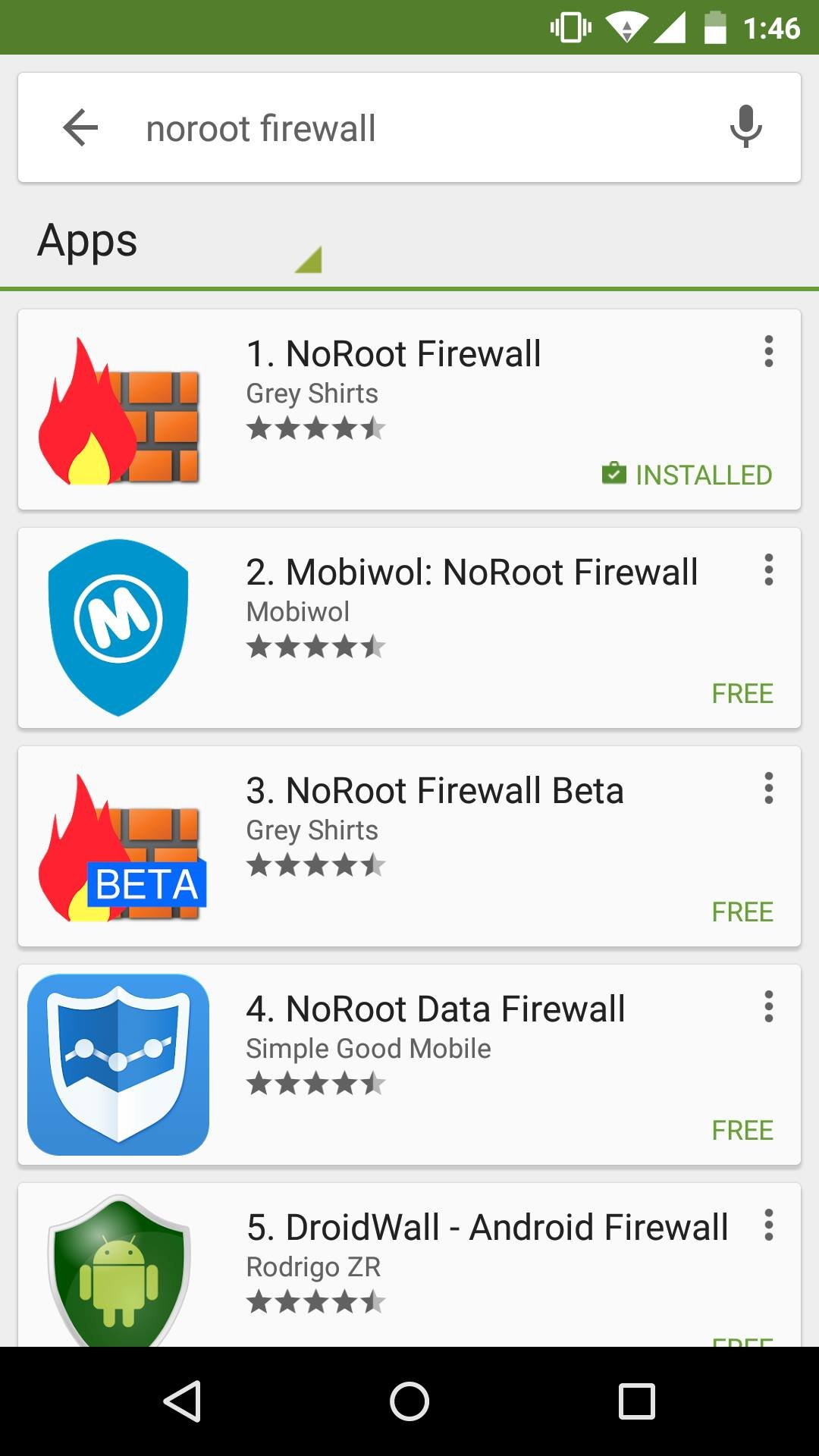 Block internet access to apps using NoRoot Firewall for Android 11