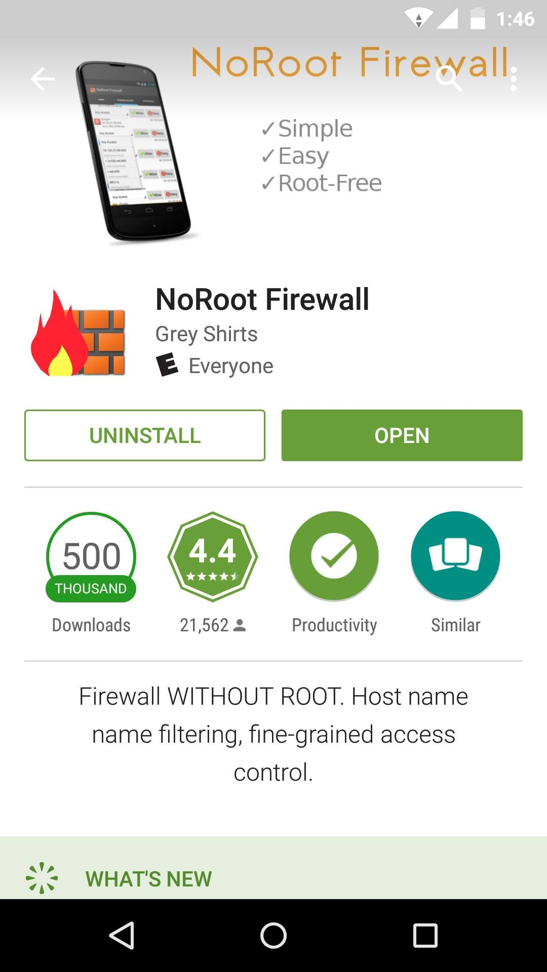 Block internet access to apps using NoRoot Firewall for Android 6
