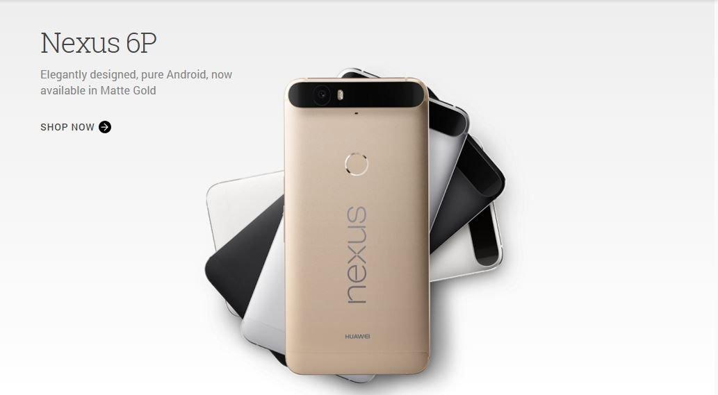 Nexus 6P Gold