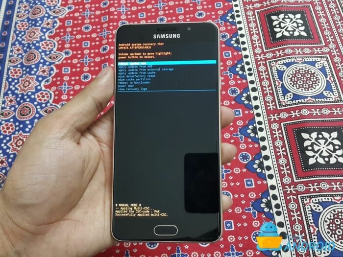 HOW TO: Enter Samsung Galaxy A7 2016 Recovery Mode