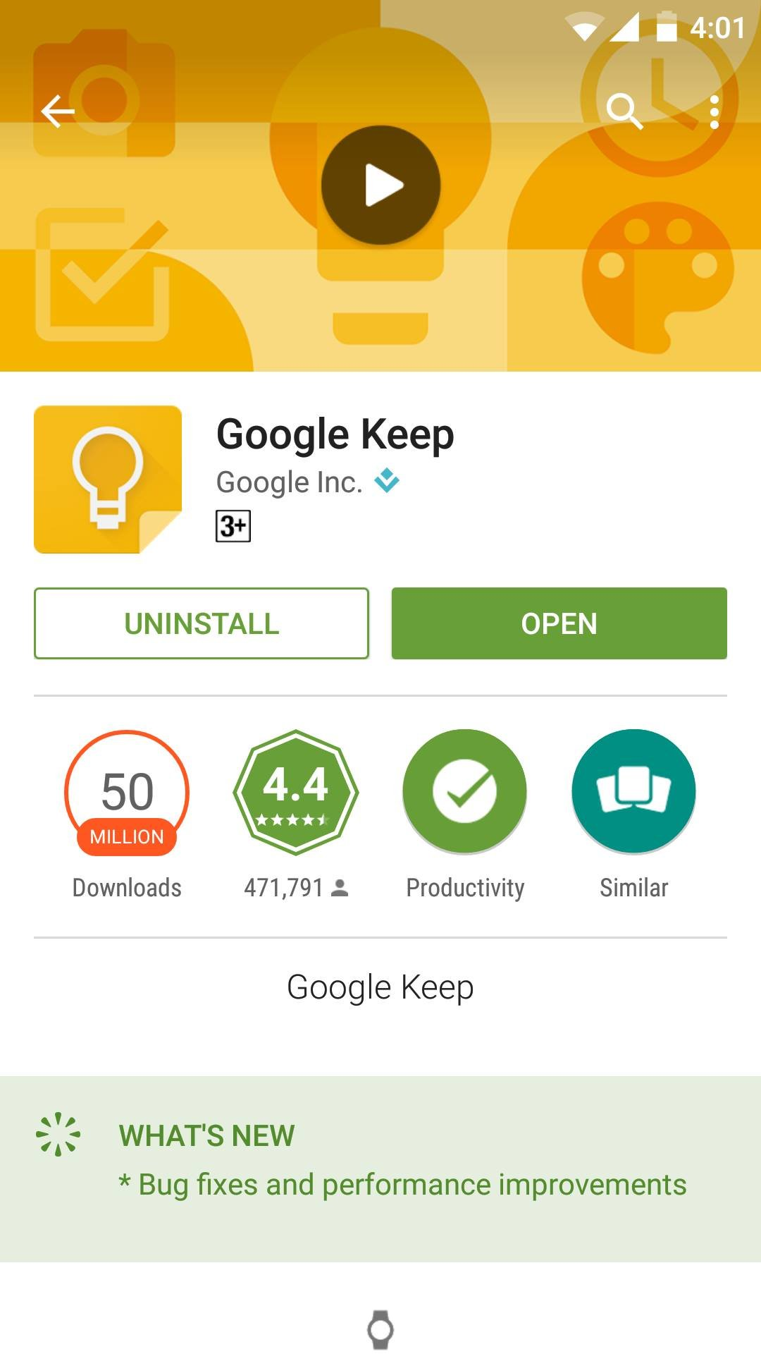Google Keep: Free Reminder App from Google