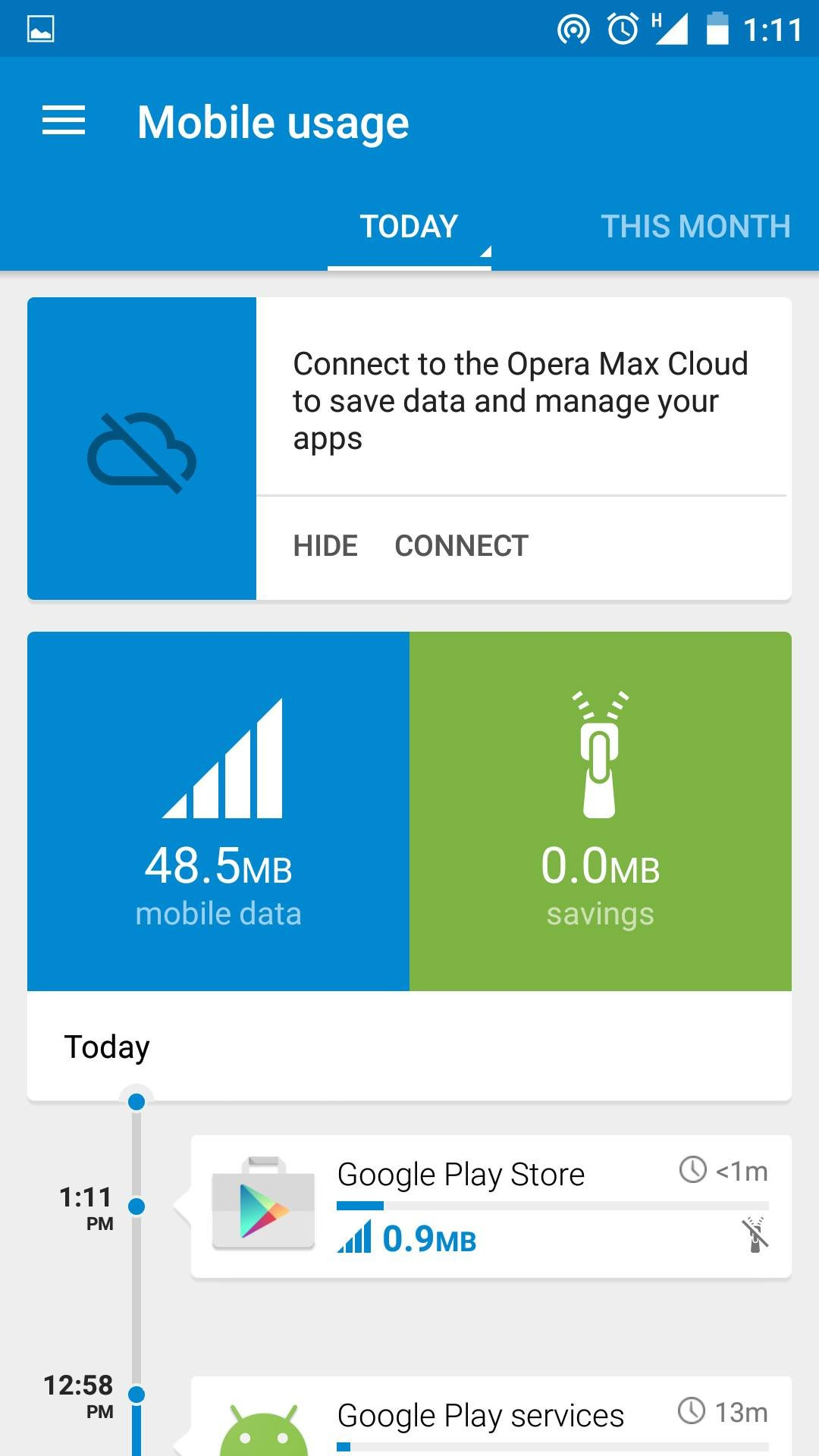 Save Mobile Data and browse faster using Opera Max for Android