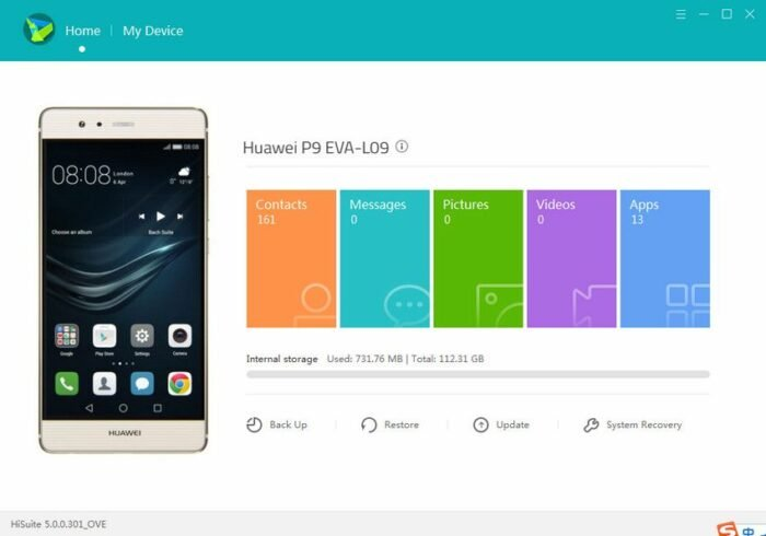 Download HiSuite for Huawei