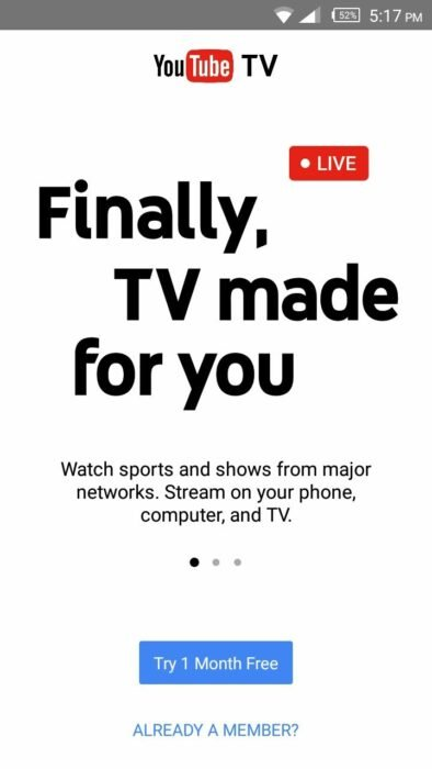 youtube tv app download apk