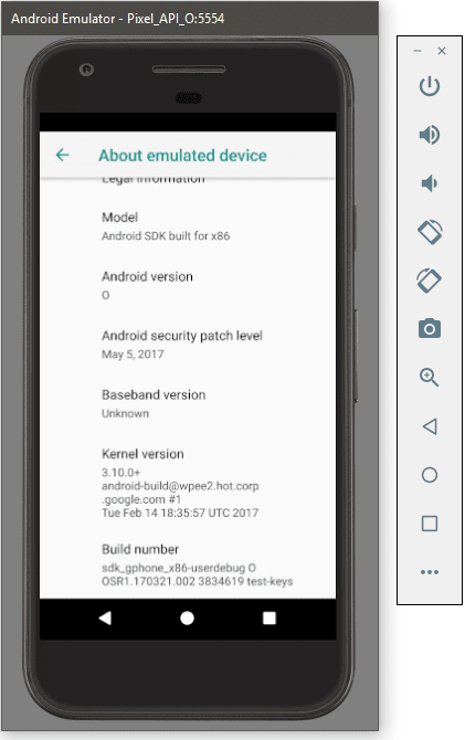 Android O on Android Emulator