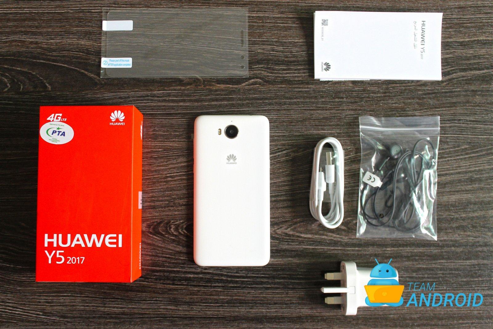 محتويات علبة هاتف Huawei Y5 2017