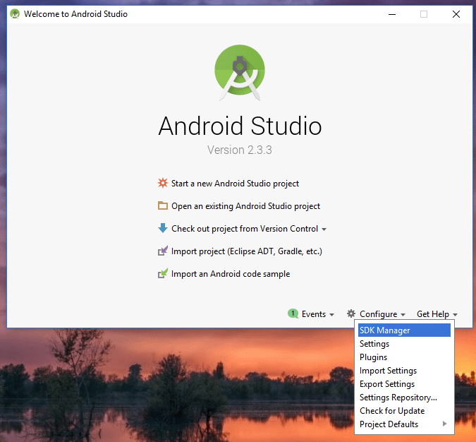 Android Studio - Configure SDK Manager
