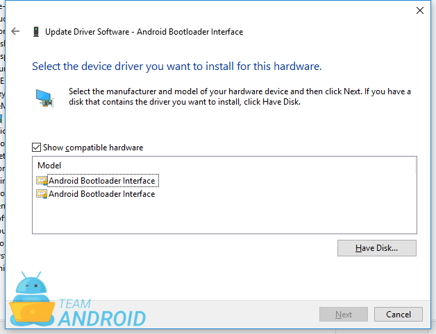 ASUS Android Bootloader Interface Drivers for Windows 10