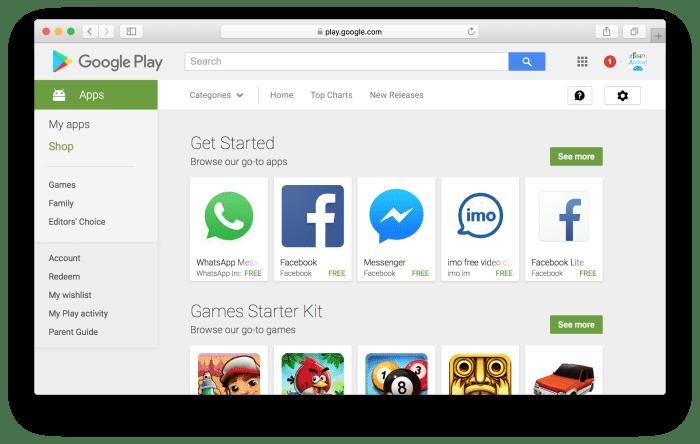 Google Play Store - Website
