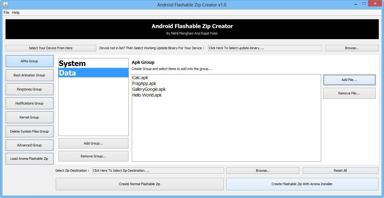 Download Android Flashable ZIP Creator - Backup Apps, System Files