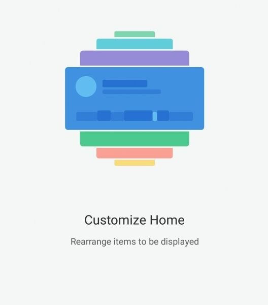 Mi Fit 3 Customized HomePage