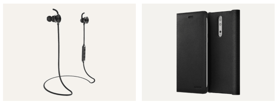 Nokia 8 Official Accessories: Leather Flip Case, Wireless Earphones 5