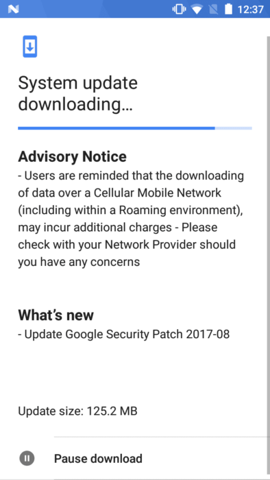 Nokia 5 OTA - August 2017