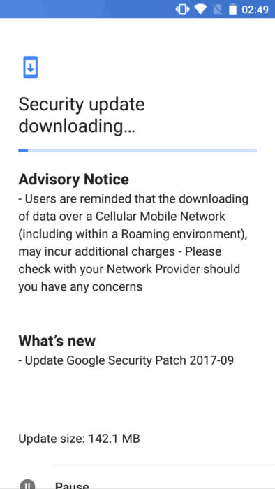 Nokia 5 September 2017 OTA Update