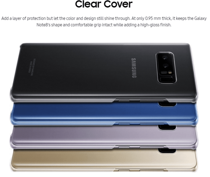 Clear Cover - Galaxy Note 8 Accessories